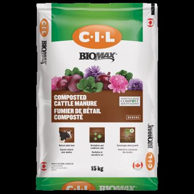 CIL Biomax Fumier de bétail composté 0.5-0.5-0.5