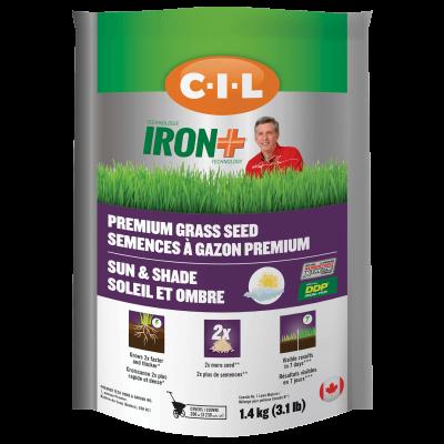 CIL IRON + Premium Grass Seed Sun shade