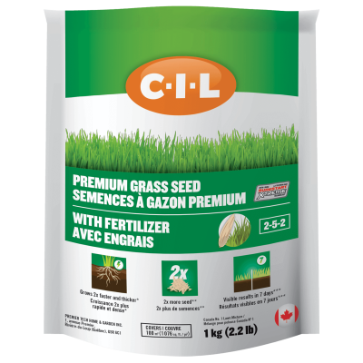 CIL Semences à gazon premium avec engrais 2-5-2