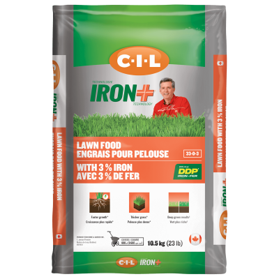 CIL IRON+ Engrais pour la pelouse 30-0-3