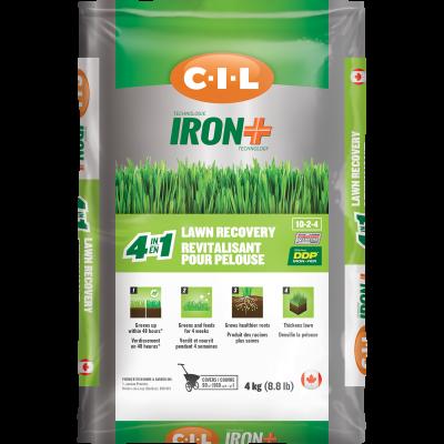 Revitalisant de pelouse 4 en 1 C-I-L®IRON+ 10-2-4 4kg
