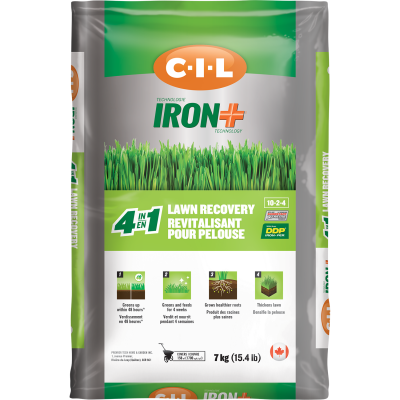 C-I-L® IRON+ Lawn Recovery 4 in 1 10-2-4 7kg