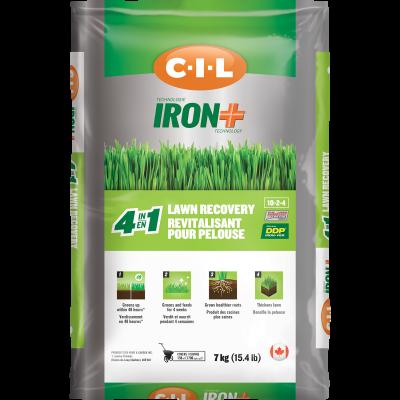 Revitalisant de pelouse 4 en 1 C-I-L®IRON+ 10-2-4 7kg