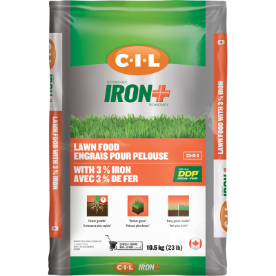 C-I-L® IRON+ Lawn Food 33-0-3 with 3% Iron 10.5kg