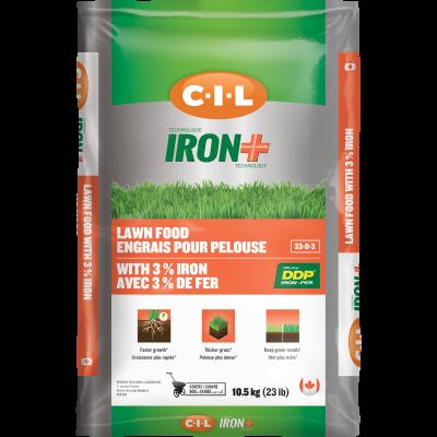 Engrais pour pelouse IRON+ 33-0-3 avec 3% de fer 10.5kg
