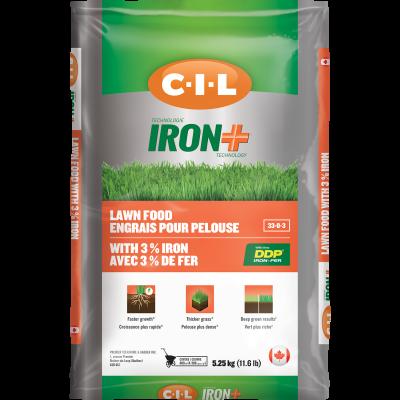 Engrais pour pelouse IRON+ 33-0-3 avec 3% de fer 5.25kg