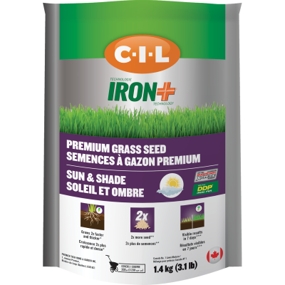C-I-L® IRON+ Premium Sun & Shade Grass Seed